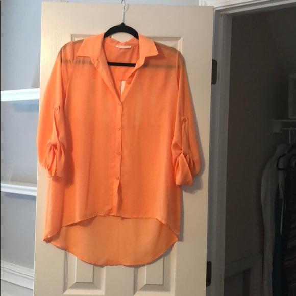 Lush Tops - Orange blouse